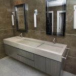troff bathroom sink unit with double taps elegant decorative mirrors with black frames