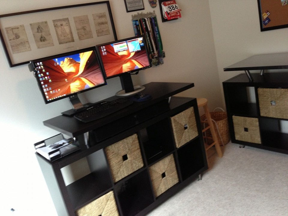 home furniture build your own stand up desk from recycled wood