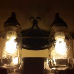 Twin Mason Jar Wall Lamp