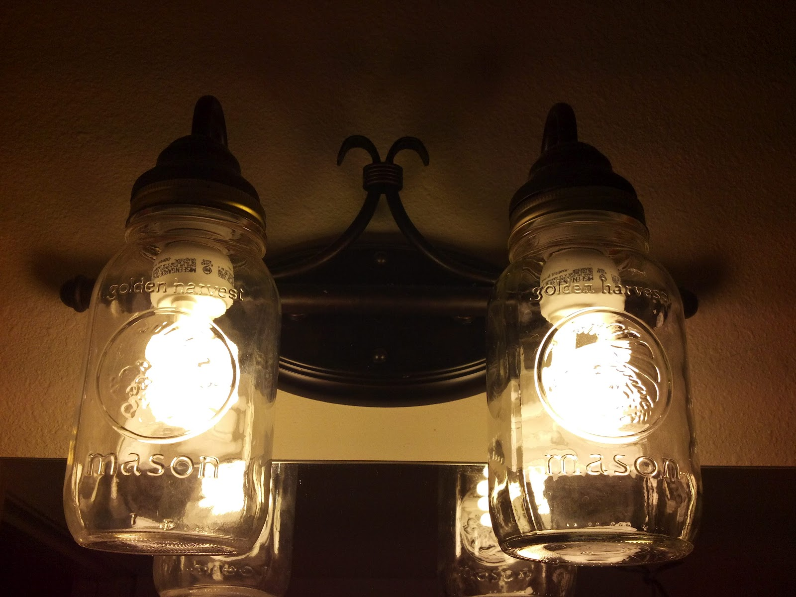 How to create mason jar lighting fixtures homesfeed twin mason jar wall lamp arubaitofo Gallery