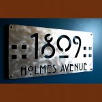 Unique Plaque Home Number In Stainless Steel Material