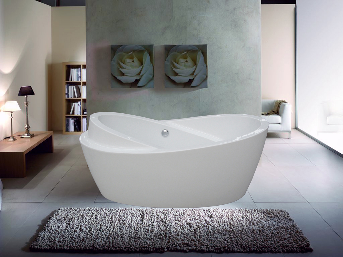 Narrow bathtubs help much for small bathroom homesfeed for Low height bathtub