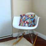 white cradle chair