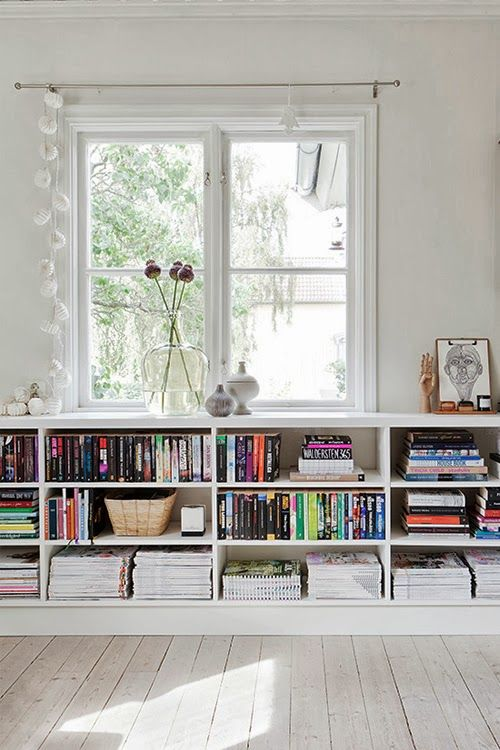 White Under Windows Bookcase With Huge Glass Glass Vase And Artificial  Flower Ornaments Frameless Human_s Skets