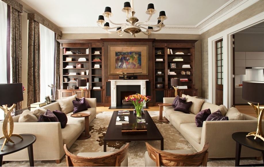 Wonderful Brown Living Room With