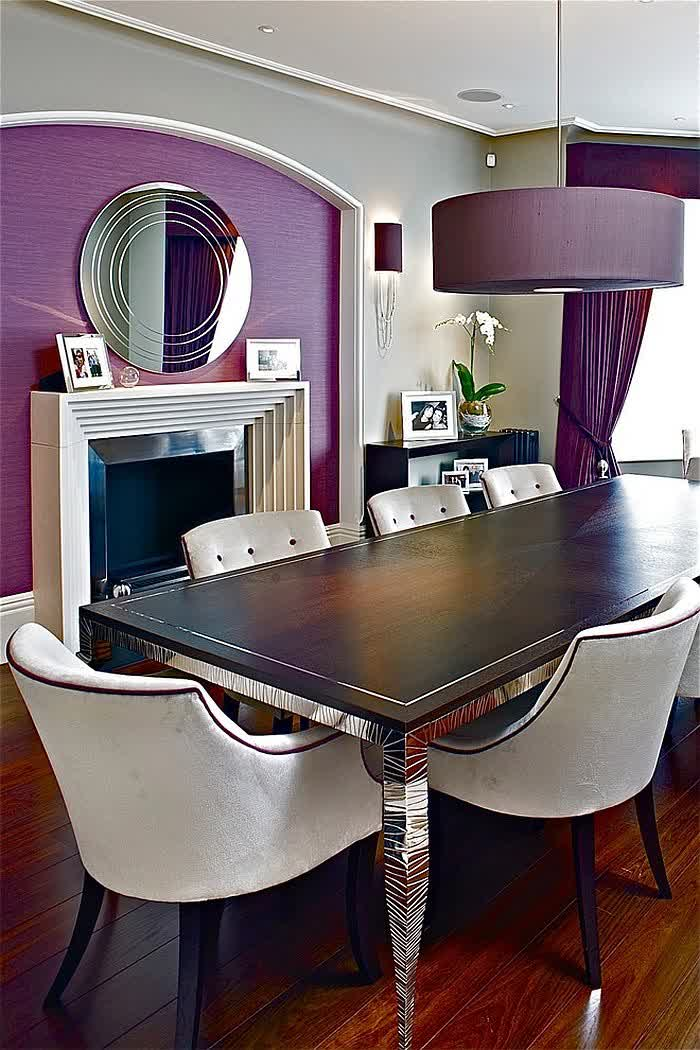 Dining room purple