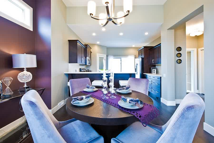 Purple Dining Room Ideas To Attract Your Family Members\' Attention ...