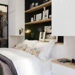 wonderful white bedroom with cute scone lighting also ravishing black beadboard with artistic transparent glass sliding