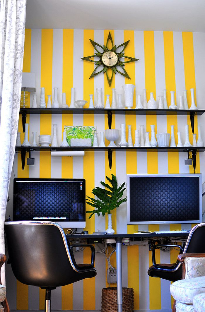 Stylish Stripes Wall Design For Your Home Office | HomesFeed