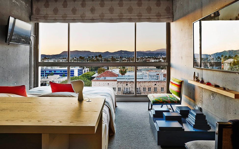 special overnight stay with raw design of the line hotel in koreatown los angeles homesfeed. Black Bedroom Furniture Sets. Home Design Ideas