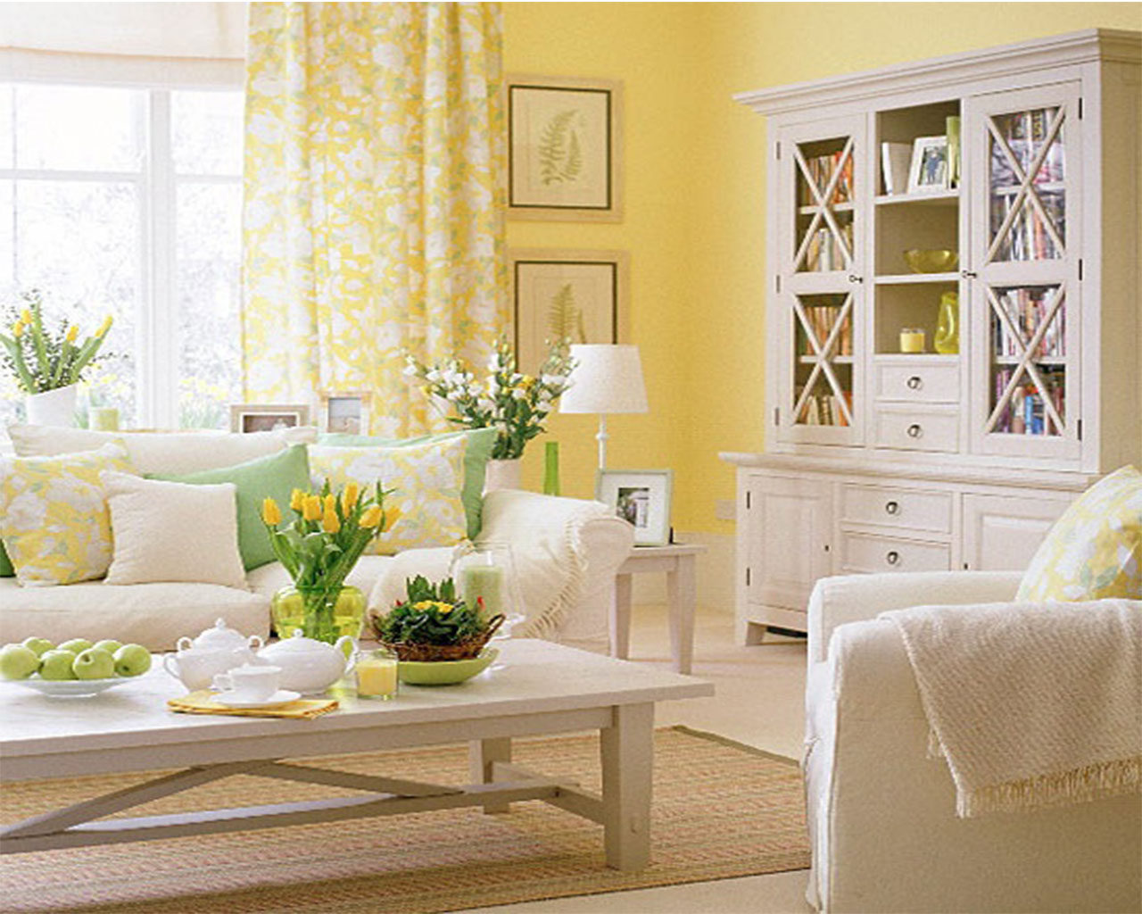 Welcome spring try these tips to make your spring smell for Pale yellow living room walls
