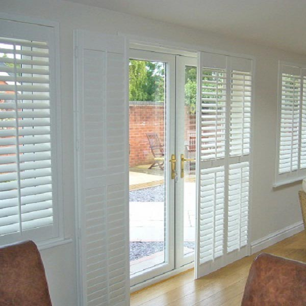 Shutters for french doors practical way to dress your for Wood doors and shutters
