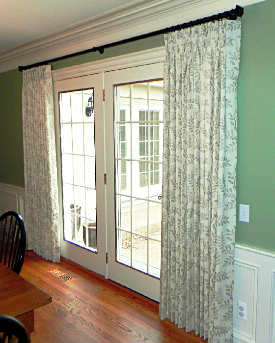 Lace and curtains the best window treatment for french for Ideal windows and doors