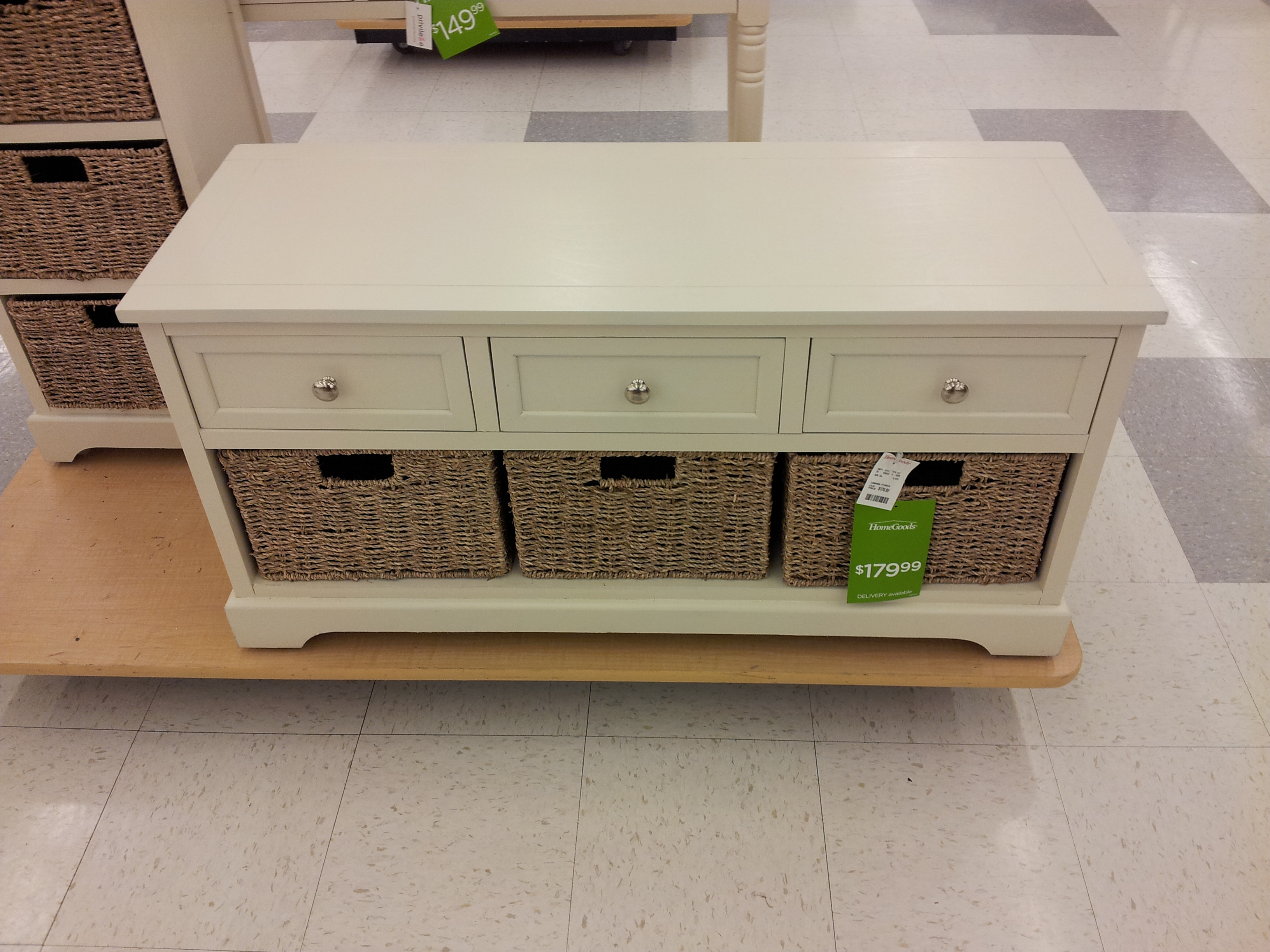 TJ Maxx Storage Design With Drawers In White Color