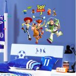 Toy-Story figures wall sticker headboard with CHELSEA football team theme bedroom furniture with CHELSEA atribut