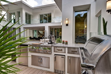 Cool and nice concept of houzz outdoor kitchen design homesfeed Modern kitchen design ideas houzz