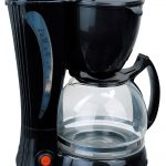 adorable cool compact cute great elegant coffee maker with unique design in black coloring with transparent glass with small handle