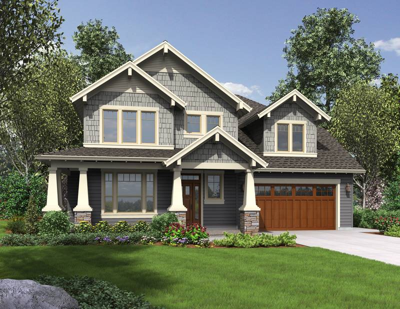 Craftsman Style House on One Story Open Floor Plan Farmhouse