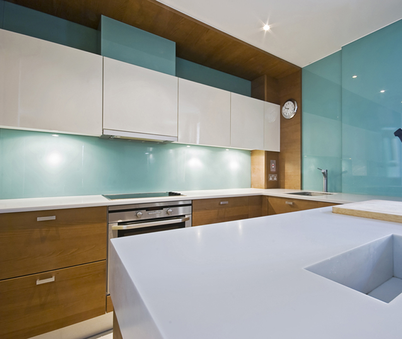 Amazing kitchen design and concept with acrylic backsplash - Glass wall panels kitchen ...