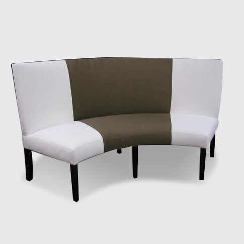 Wonderful design of curved banquette seating for living Banquette bench