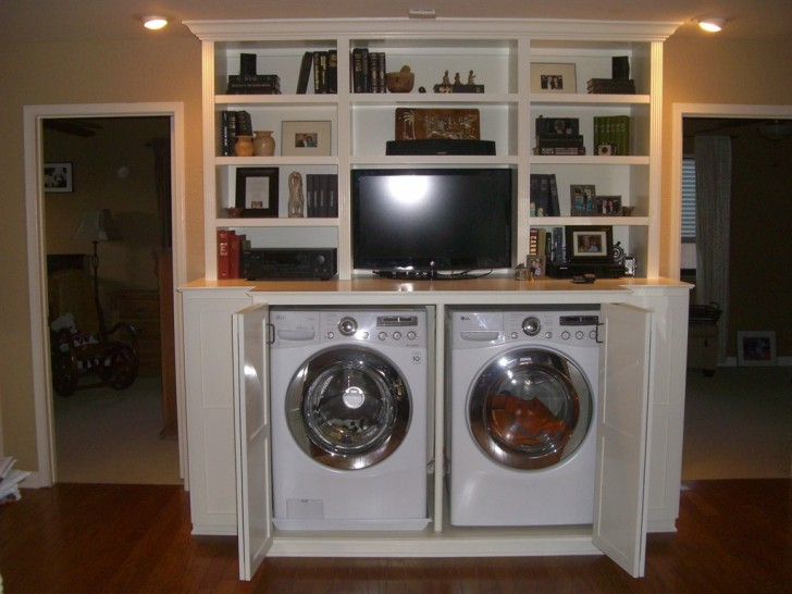 adorable-nice-mdoern-cool-wonderful-attractive-v-with-double-machine-and-compact-cabinet-with-shelf-728x546