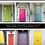 adorable nice wonderful cool amazing cool front door idea with colorful wooden door concept design like green pink green yellow purple color