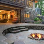 adorable nice wonderful modern cool amazing-in-ground-fire-pit-with barkley-landscapes-design and has rock concrete flooring