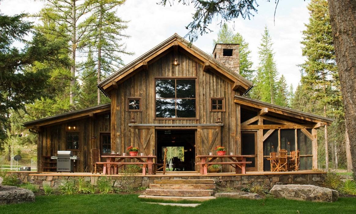 Modern and classic design of barn house for your idea for Small house design made of wood