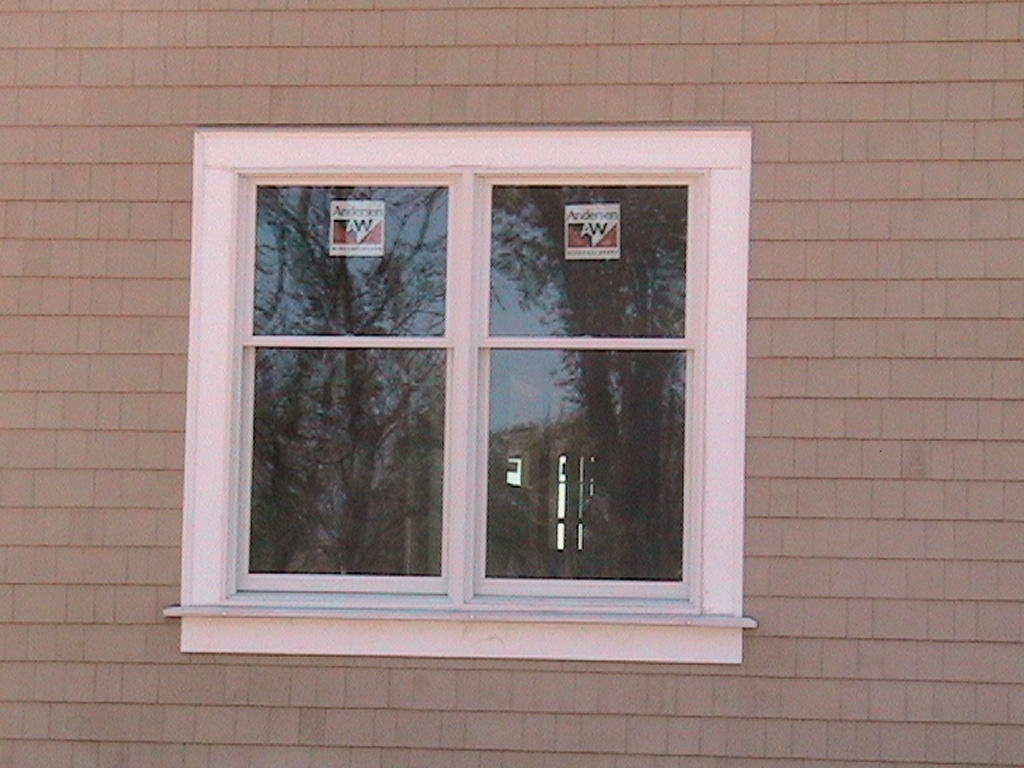 Simple design of outdoor windows trim homesfeed for Window wall