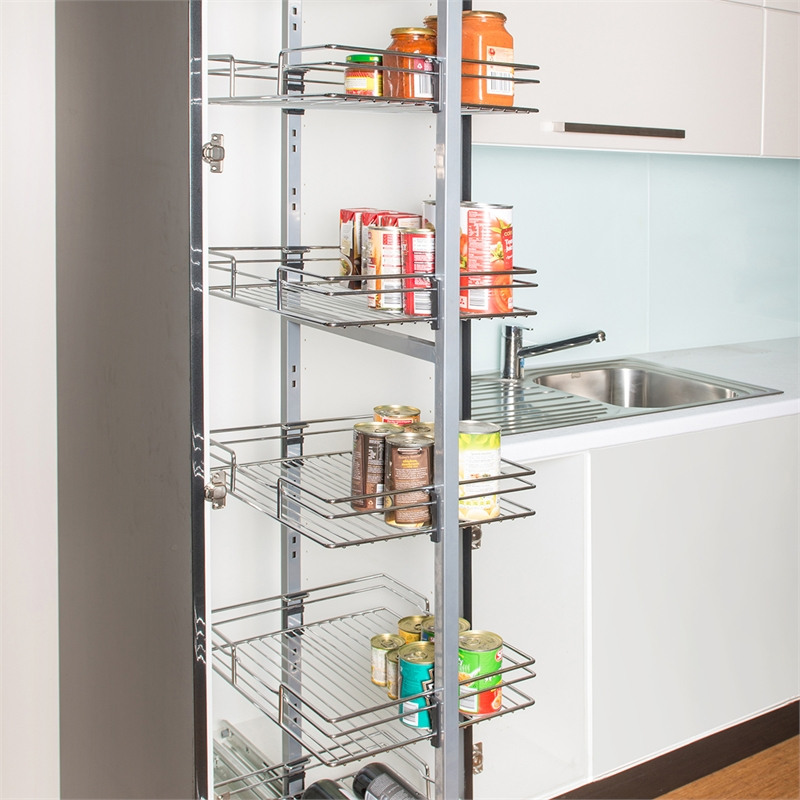 Amazing Cool Modern Nice Wonderful Coolattractive Pull Out Pantry With  Metal Frame Design Concept For Modern
