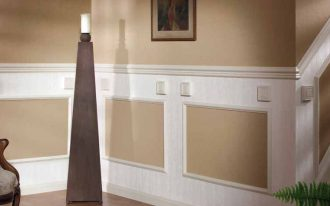 amazing cool nice adorable creative modern nice chair rail molding idea with white wood made concept design and has nice design