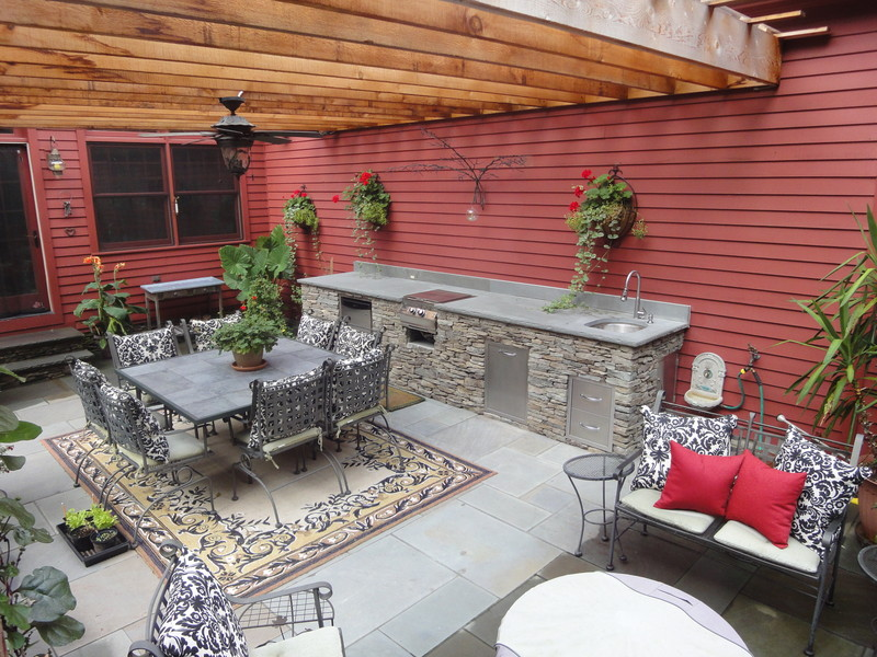 Amazing Nice Adorable Creative Nice Houzz Outdoor Kitchen Design With  Pergola Wall Made Of Wooden Dsign