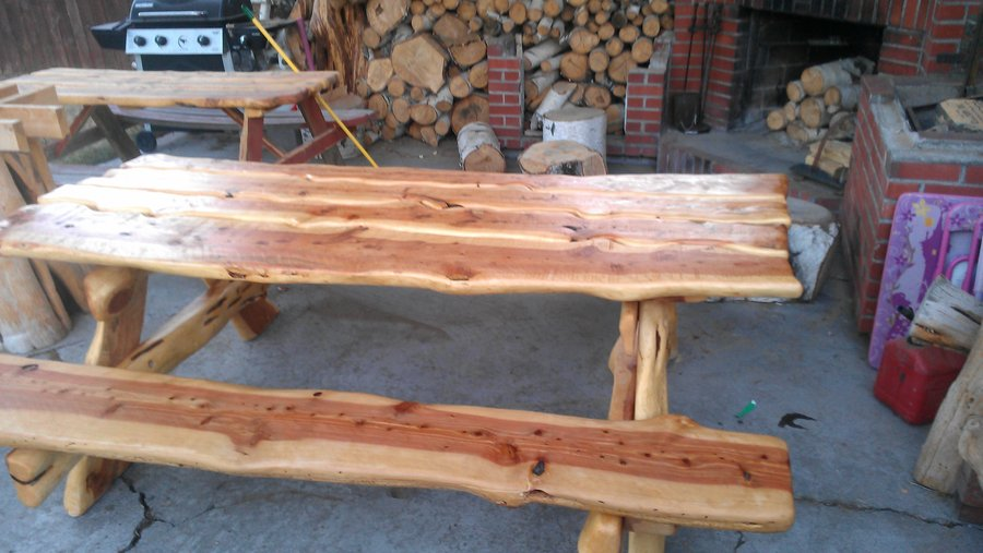 ... and Cool Picnic Table Design for Back Yard and Garden Decoration