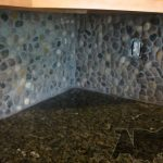 amazing nice wonderful cool fantastic river rock backsplash with random design rock for modern classic kitchen concept