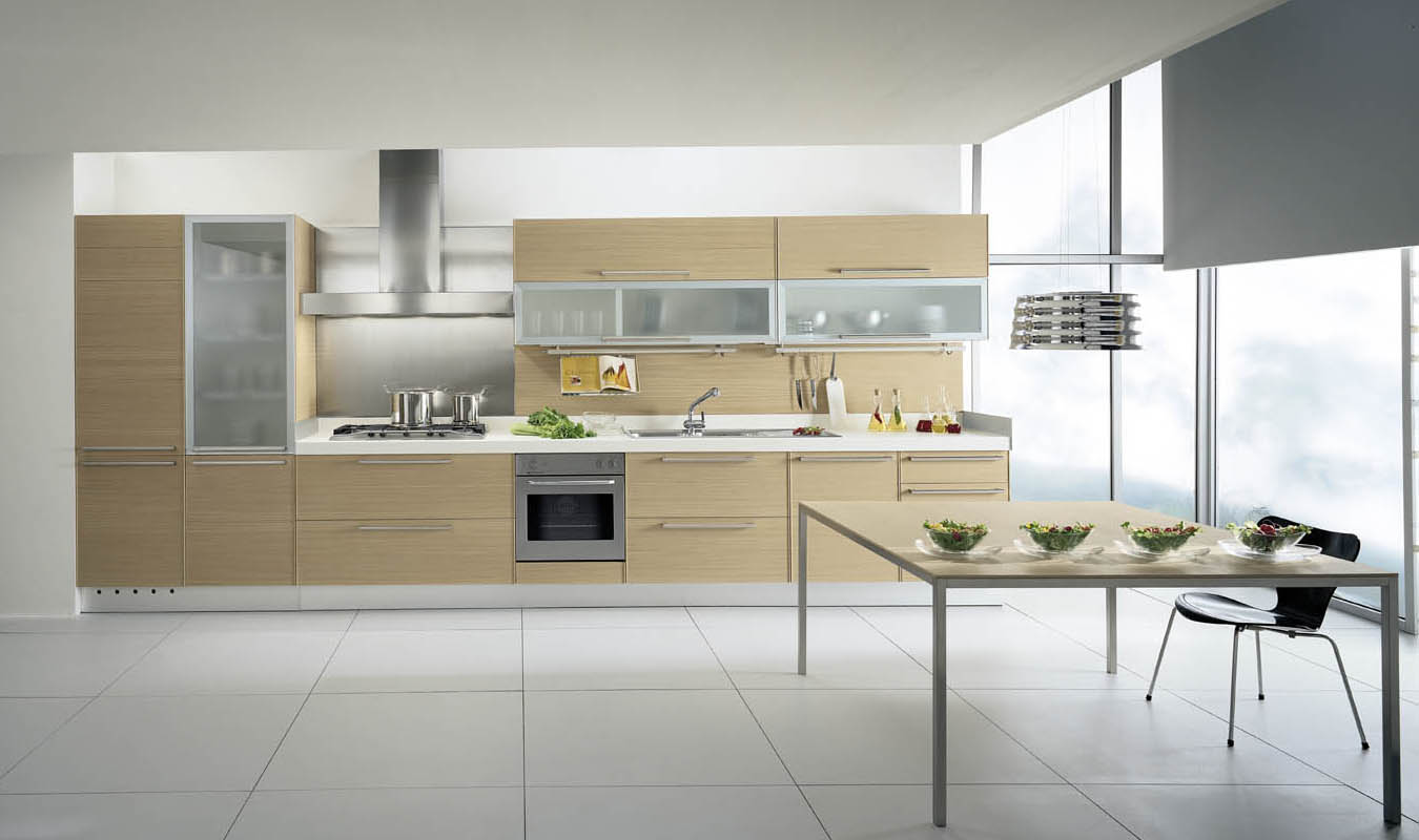 Amazing Simple Nice Wonderful Cool Attractive Modern Kitchen Cabinet With  Nice Wooden Concept With White Flooring