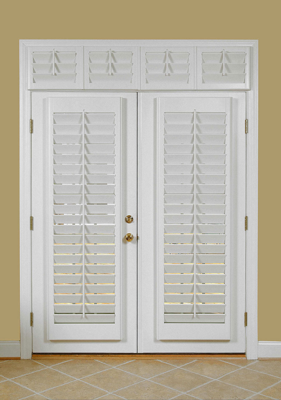 Cool and nice design of shutter for french doors homesfeed for White wooden french doors