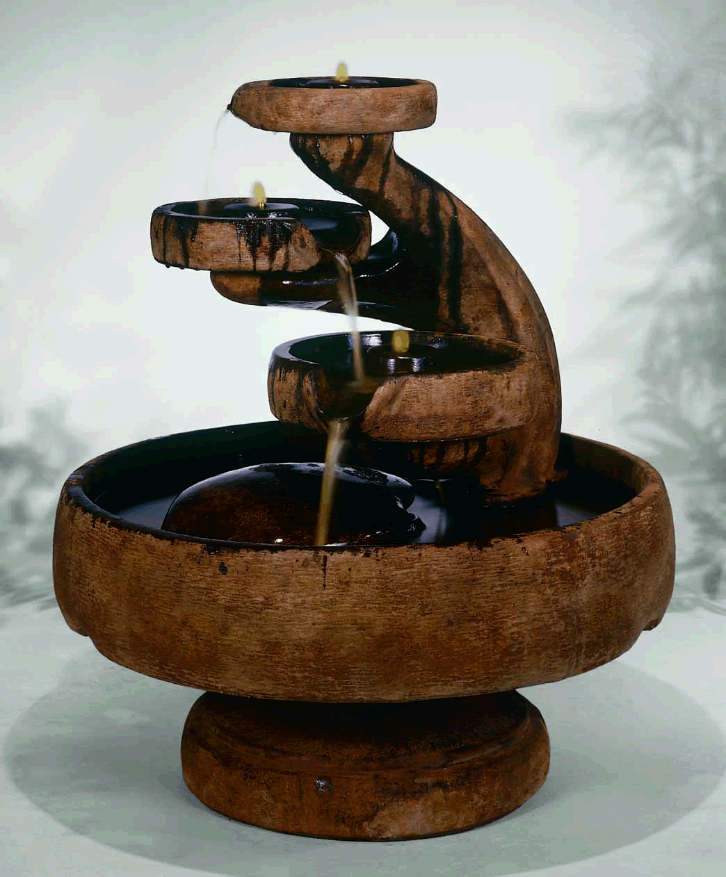 Artistic Water Feature For Indoor With Pool Layers And Fountains