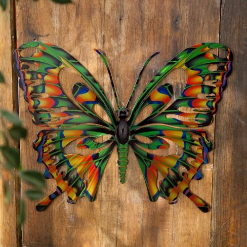 Outdoor fence decorations ideas homesfeed for Butterfly lawn decorations