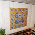Beautiful Pattern Spanish Tiles Backsplash In The Kitchen