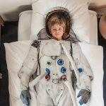 bed sheet idea in astronaut costume