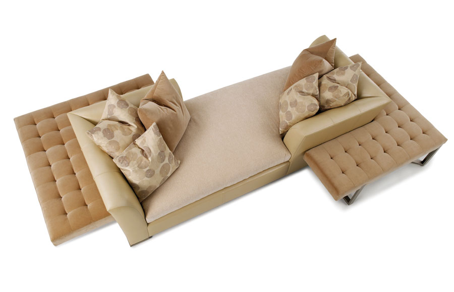 Big And Comfortable Tete A Tete Furniture With Two Additional Seatings