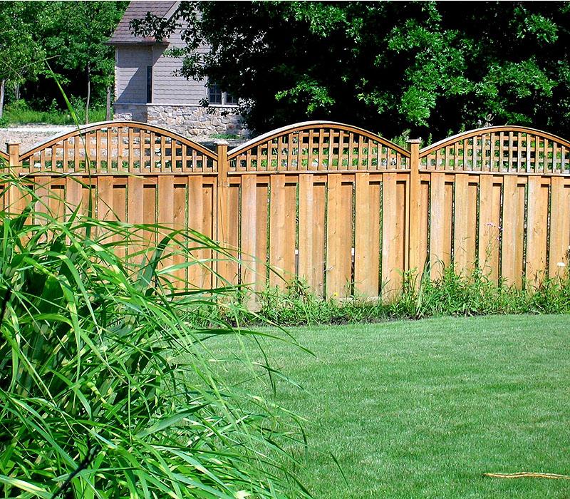 Brushed Wood Lattice Fence System For Garden