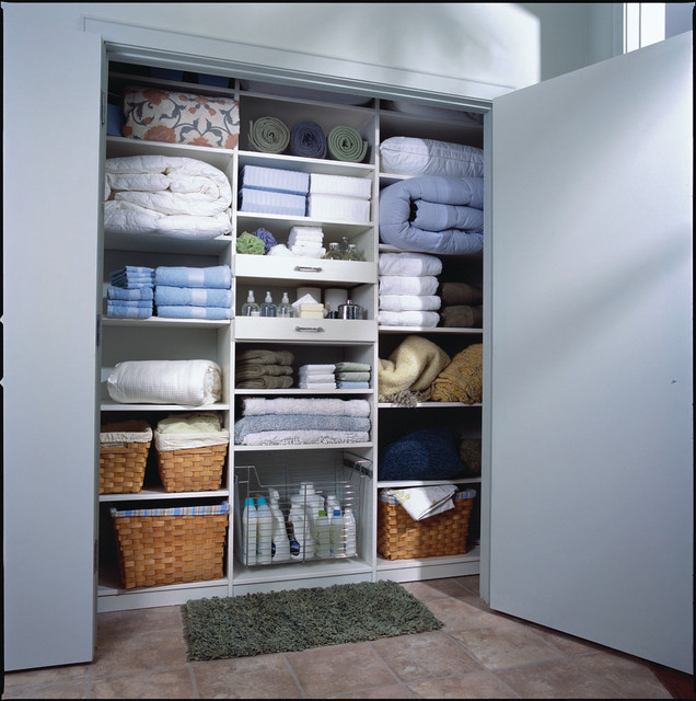 Casual White Linens Closet Organizer With Dividers Feature Some Dried Root Boxes For Storage Stainless