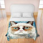cat's head-theme fun bed sheet