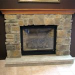 Classic Adorable Wonderful Cool Amazing Fireplace Mantel Idea With Brick Stone Wall Concept Design And Has Wooden Mantel Brown Accent
