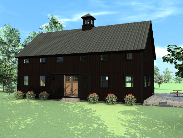 Modern and classic design of barn house for your idea for Small pole barn house plans
