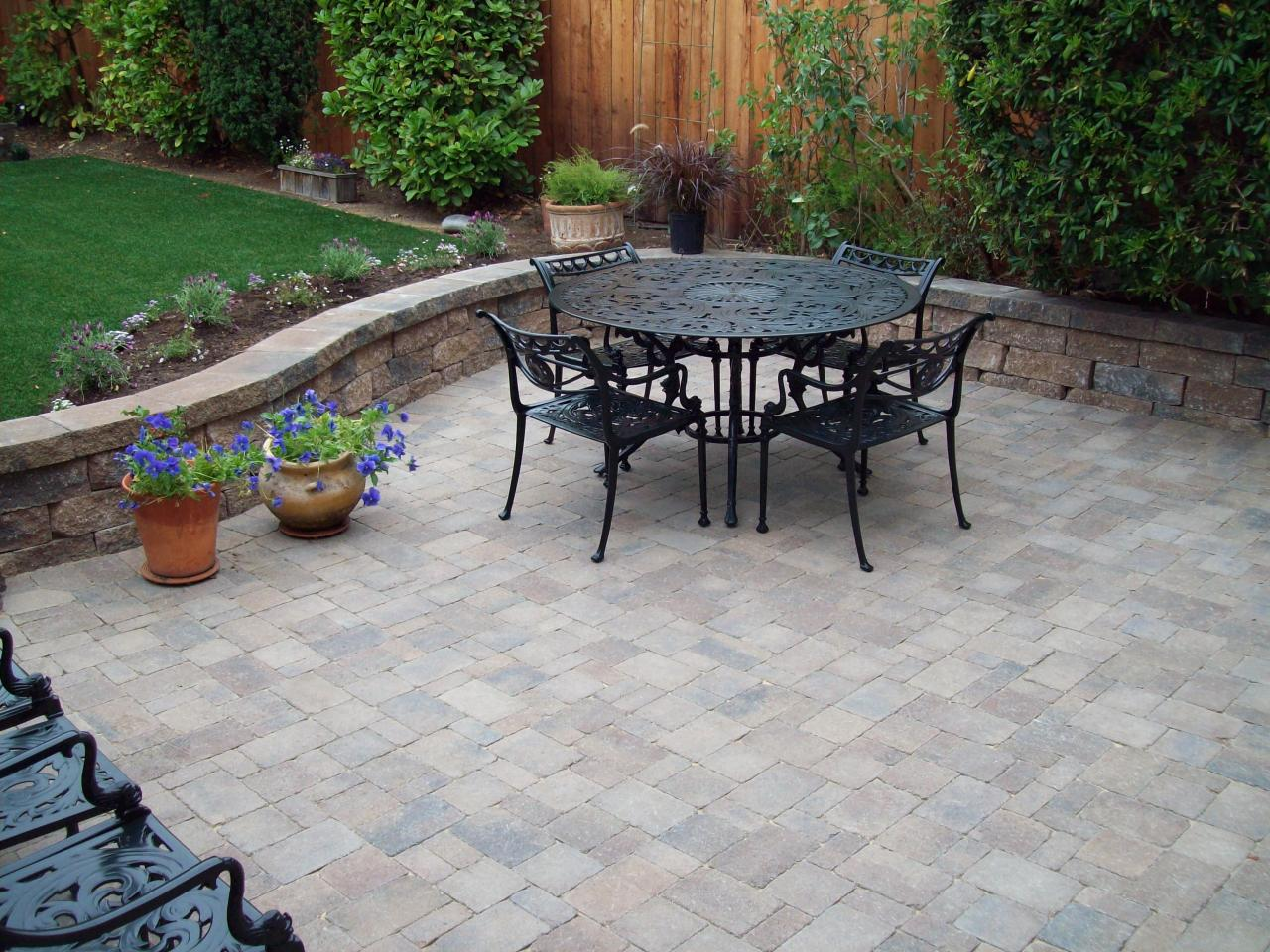Beautiful patio tile designs - Patio Floor Ideas Patio Stone Ideas Silvara Decorating Ideas Comfy Patio With Black Metal Furniture For
