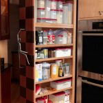 compact adorablenice wonderful amazing pull out pantry with wooden made concept and has built in design for classic kitchen