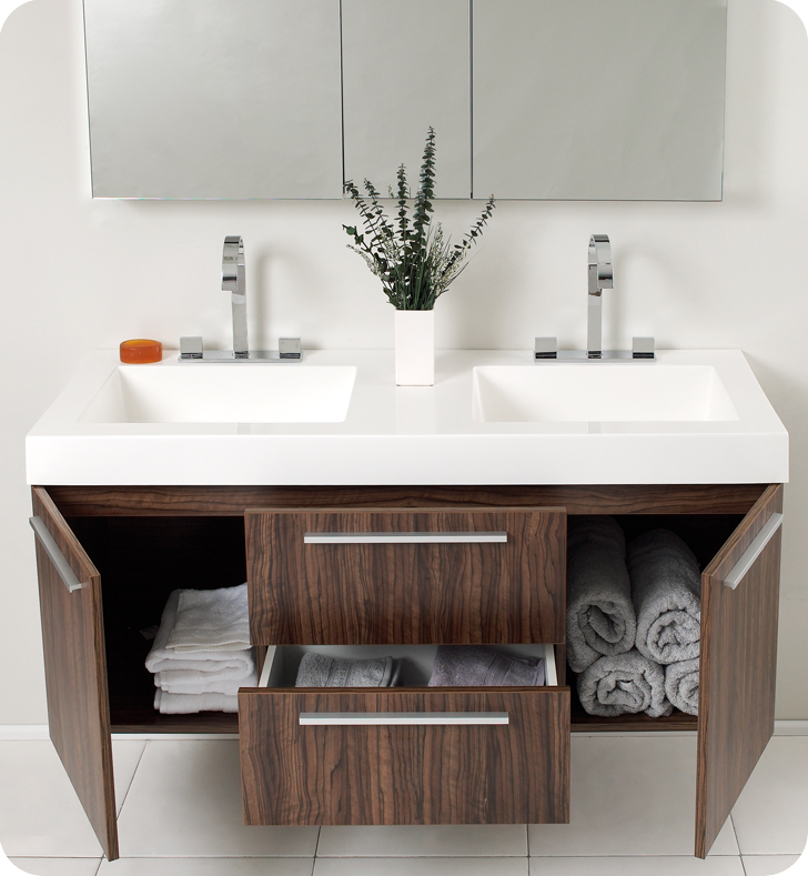 48 inch double sink bathroom vanity homesfeed for Modern bathroom vanity designs