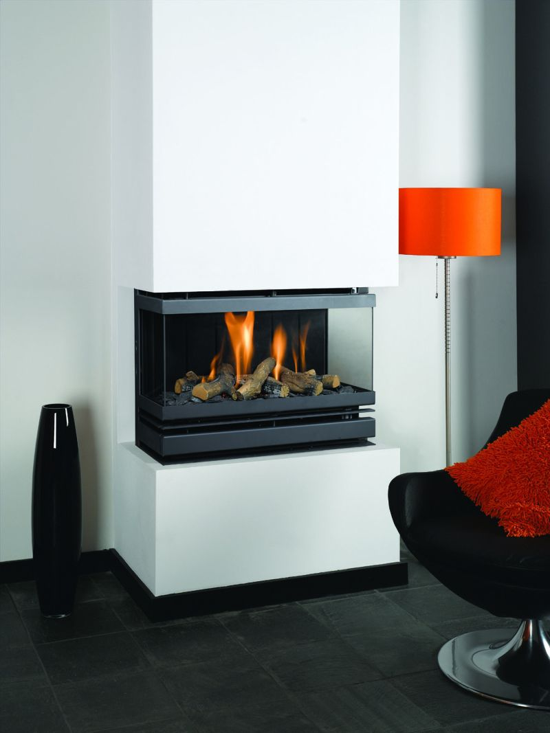 Creative Modern 3 Sided Gas Fireplace Design – HomesFeed